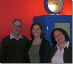 vlnr: Markus Pflugbeil, Martina Limlei, Ruth Bachmann