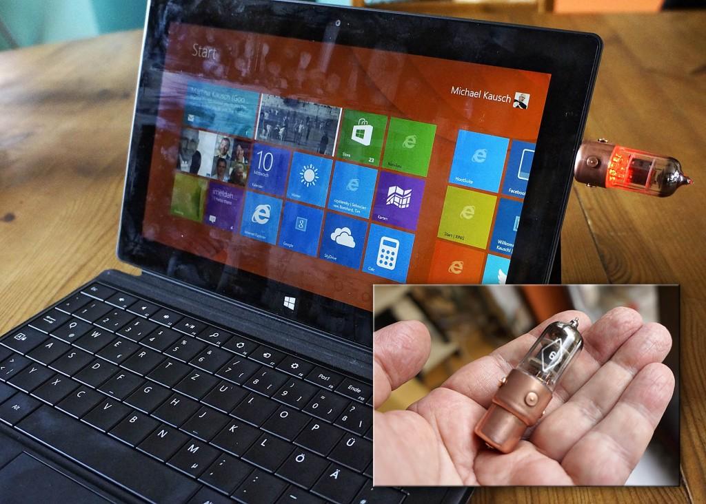 Tablet Computer mit Röhren USB