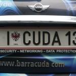 Ein Mini für maximale Sicherheit parkt vor der Barracuda Networks Europa Konferenz