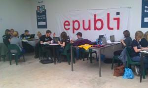 Journalistenschüler schreiben am re:publica Reader
