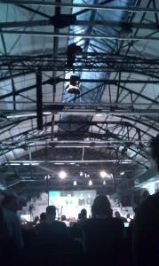 Bühne 2 der re:publica - auch hier tolle Industriearchitektur