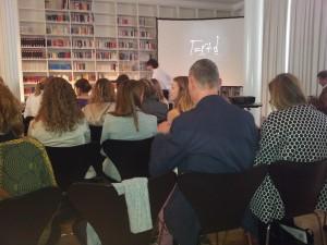 Volles Literaturhaus: rund 40 PR-Fachleute besuchten den Vortrag zur globalen PR