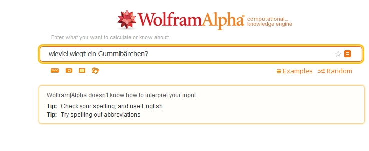 Wolfram Alpha Antwort Nummer 1