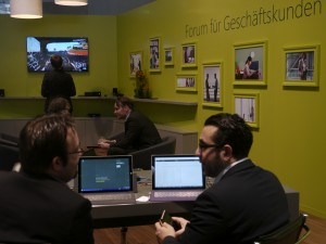 Microsoft bringt sein Wohnzimmer auf die CeBIT