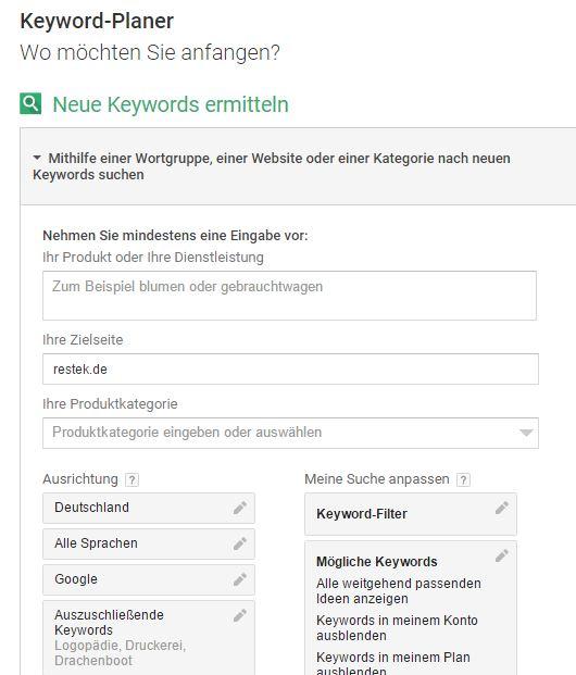 Google Keyword Planner 01