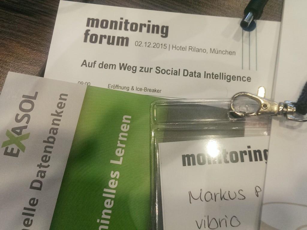 Zum vierten mal dabei auf dem #somofo15, dem Social Media Monitoring Forum., am 2.12.15 in München.