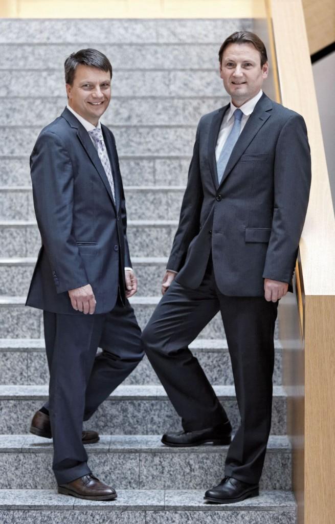 Urban Lankes, li, gründete das Unternehmen 1998. Er ist mittlerweile Verwaltungsratschef der Mitarbeiter AG. CEO ist Christoph Hoeinghaus.