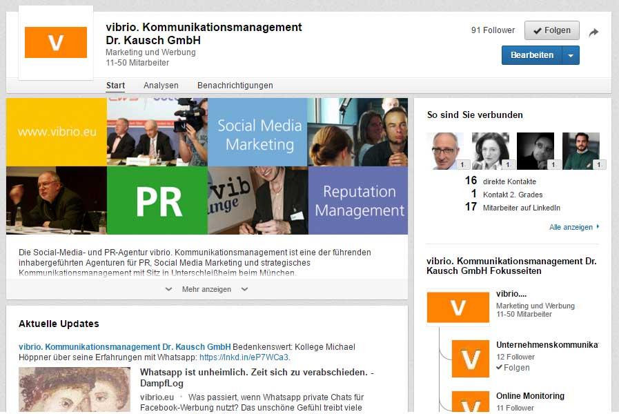 LinkedIn Anzeige Titel