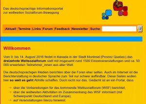 Homepage Weltsozialforum