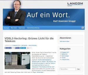 Der Blog von Ralf Koenzen, GF von Lancom Systems