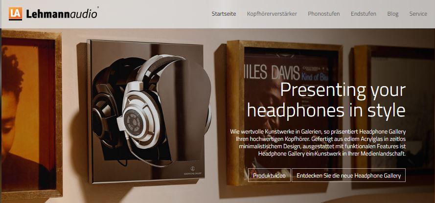 Ein gelungener Online-Auftritt: Die Homepage des Vorverstärker-Spezialisten Lehmann Audio.