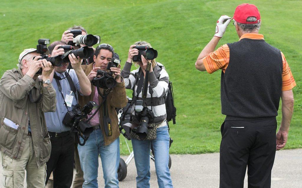 Pressefotographen bei der Arbeit