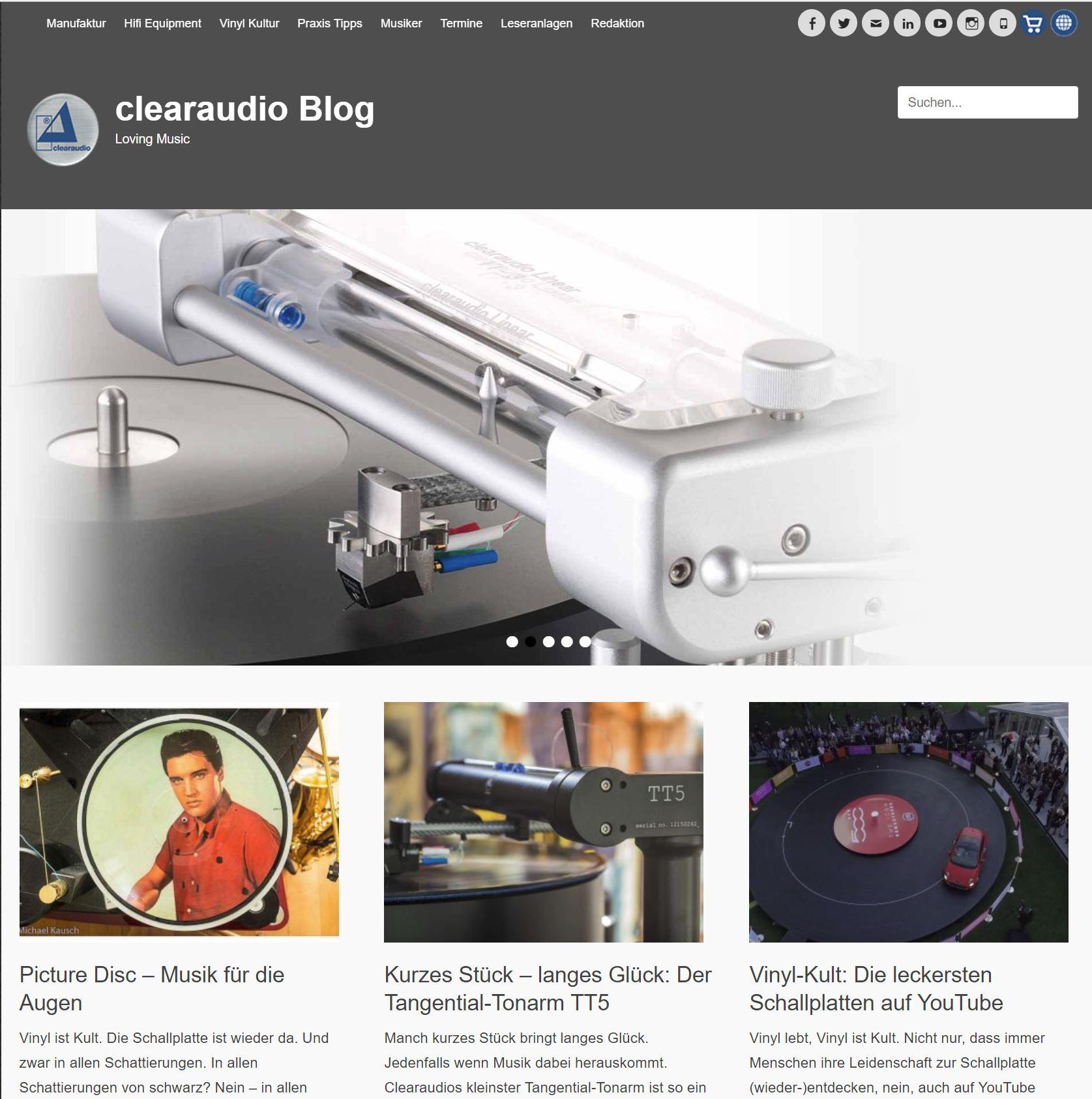 Corporate Blog Clearaudio