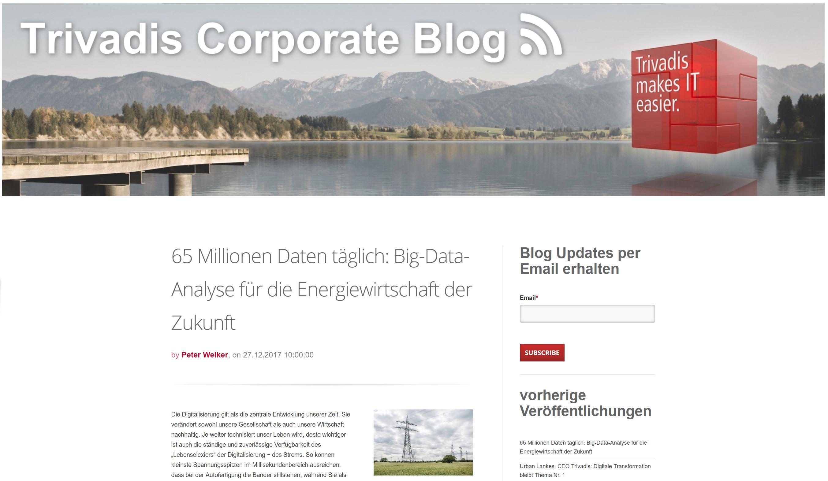 Corporate Blog Trivadis
