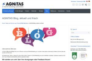 Das AGNITAS Corporate Blog