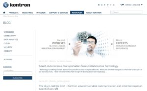 Ein Kontron Corporate Blog