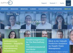 Das SupplyOn Corporate Blog