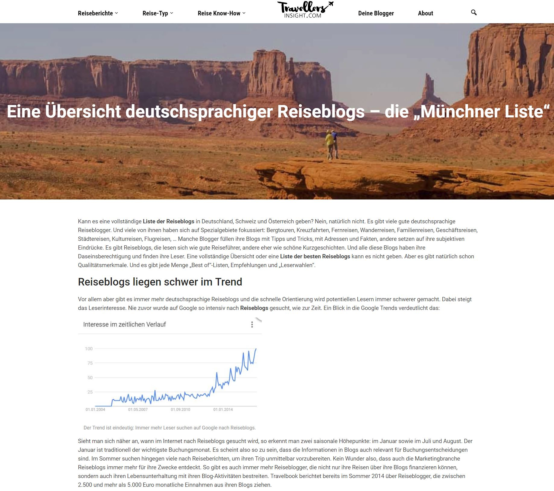 Liste deutschsprachiger Reiseblogs