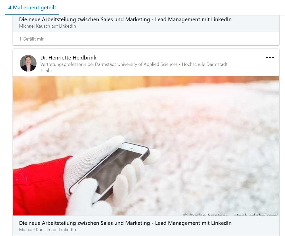 Content Syndication auf LinkedIn