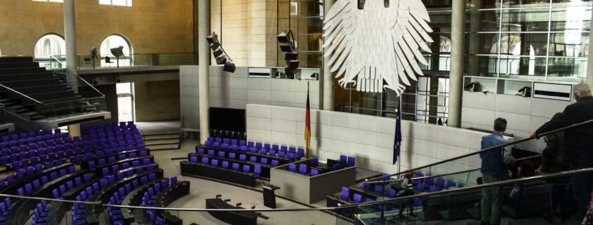 Symbolisch für die Digitalpolitik? Leere im Bundestag.