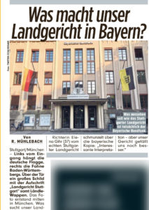 Zeitungsbericht zu den Dreharbeiten am BR-Hauptfunkhaus